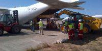 Loading Cargo in C-130 at Pemba Airport Tanzania