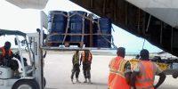 Pallitized Fuel Tanks for AMISON loading them